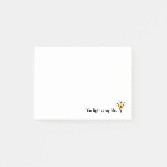 Cute Heart Light Bulb Post-it Notes