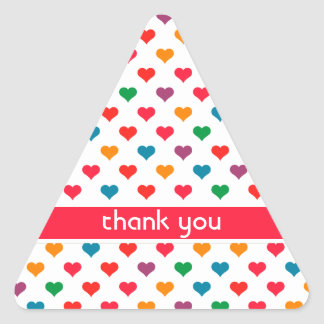 Cute Heart Love Pattern Triangle Sticker