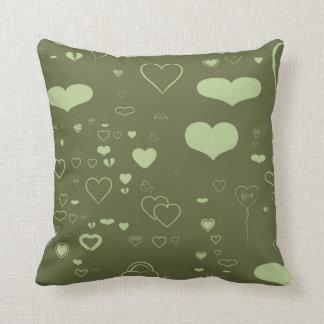 Cute Heart Modern Olive Cushion