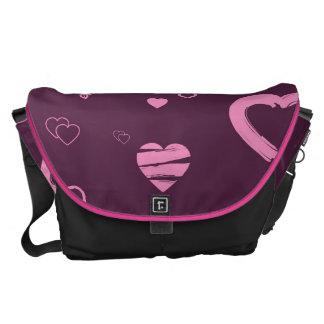 Cute Heart Modern Pink Pattern Commuter Bags