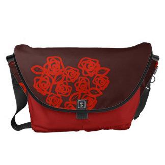 Cute Heart Modern Red Pattern Commuter Bag
