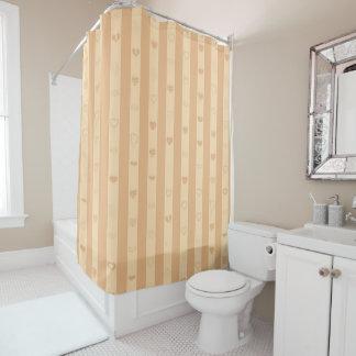 Cute Heart Modern Tuscan Stripe Shower Curtain