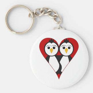 Cute Heart Penguins Key Chain