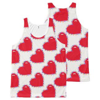 Cute heart print tank top All-Over print tank top