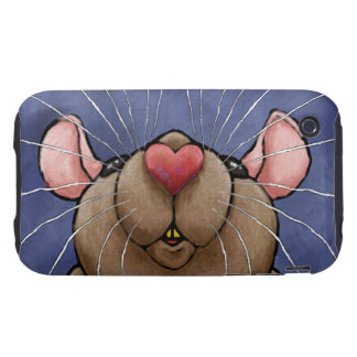 Cute Heart Rat Case Mate Tough iPhone 3 Covers