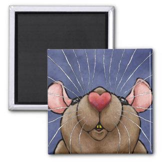 Cute Heart Rat Magnet