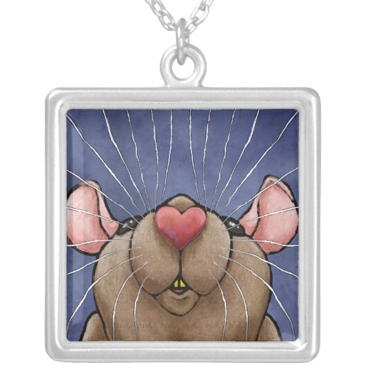 Cute Heart Rat Necklace