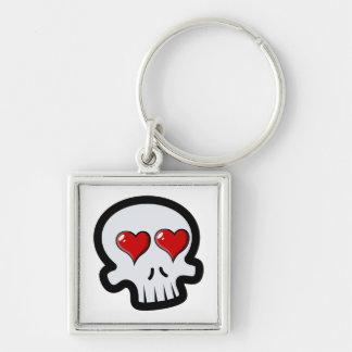 Cute Heart Skulls Cartoon Keychain