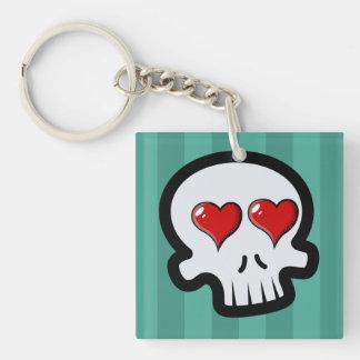 Cute Heart Skulls Cartoon Acrylic Key Chains