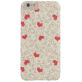 Cute Hearts Background Barely There iPhone 6 Plus Case