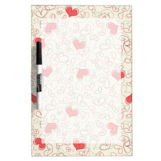 Cute Hearts Background Dry Erase Board