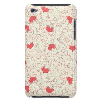 Cute Hearts Background iPod Case-Mate Case