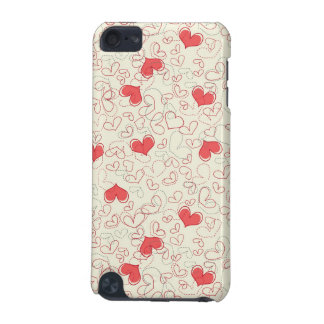 Cute Hearts Background iPod Touch 5G Cases