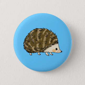 Cute hedgehog 6 cm round badge