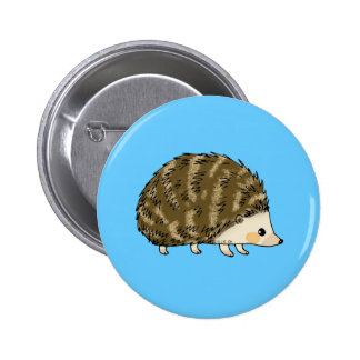 Cute hedgehog 6 cm round badge