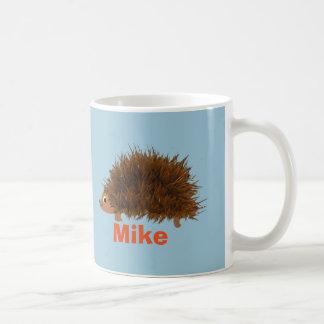 Cute Hedgehog add name Classic White Coffee Mug