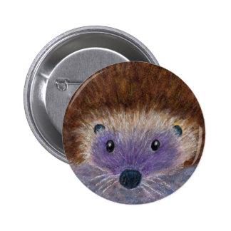 Cute Hedgehog art badge birthday christmas etc