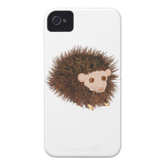 Cute hedgehog Birthday add name Case-Mate iPhone 4 Cases