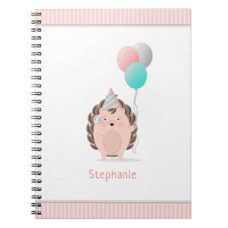 Cute Hedgehog Birthday Notebook