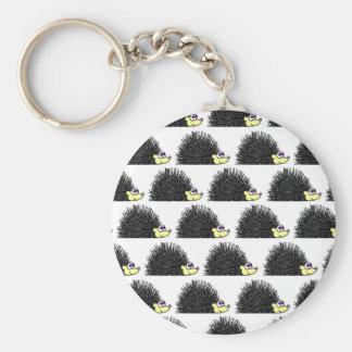 Cute Hedgehog Cartoon Pattern Key Ring
