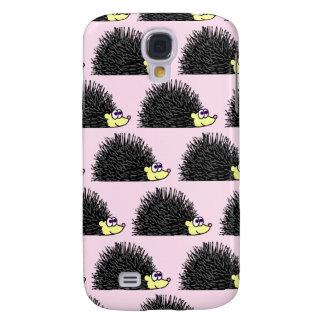 Cute Hedgehog Cartoon Pattern Pink Galaxy S4 Case