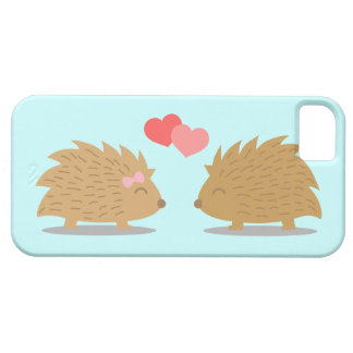 Cute Hedgehog Couple in Love iPhone 5 Cover
