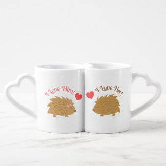 Cute Hedgehog couple in Love Lovers Mug