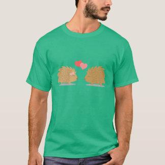 Cute Hedgehog Couple in Love T-Shirt