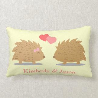 Cute Hedgehog Couple in Love Throw Cushions