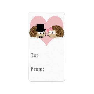 Cute Hedgehog couple Address Label