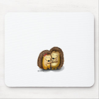 Cute Hedgehog Couple - Mr. and Mrs. Customize Mousepad