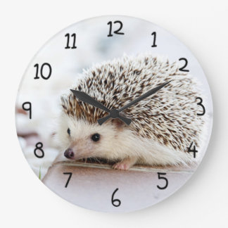 Cute Hedgehog Large Clock