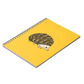 Cute hedgehog notebook