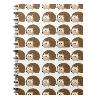 Cute Hedgehog pattern Spiral Note Books