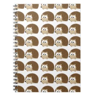 Cute Hedgehog pattern Spiral Note Books