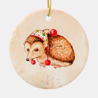 Cute Hedgehog Round Christmas Decoration