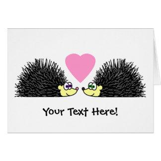 Cute Hedgehogs In Love Greeting Card