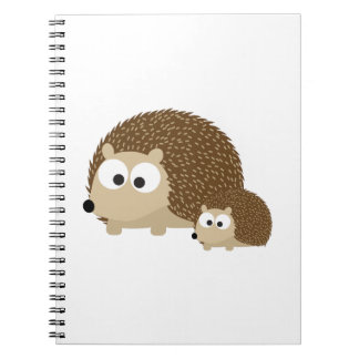 Cute Hedgehogs Spiral Notebook