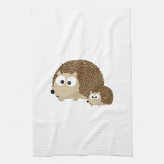 Cute Hedgehogs Tea Towel