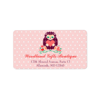 Cute Hedgie with Heart - Custom Address Labels