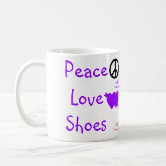 Cute Heels Peace Love Shoes Coffee Mugs
