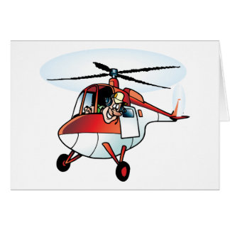 Cute Helicopter Card