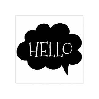 Cute Hello Cloud Talk Bubble   Art Stamp