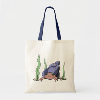 Cute hermit crab budget tote bag