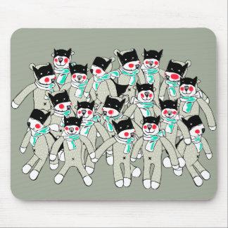 Cute Hero Bear Cubs Mouse pad. Mouse Mat