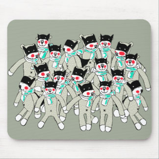 Cute Hero Bear Cubs Mouse pad. Mouse Pad