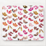 Cute high heals shoe fashion pattern mouse pad