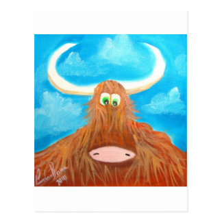 CUTE HIGHLAND COW POST CARDS