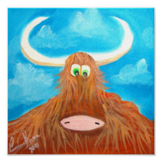 CUTE HIGHLAND COW POSTER