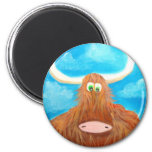 CUTE HIGHLAND COW REFRIGERATOR MAGNETS